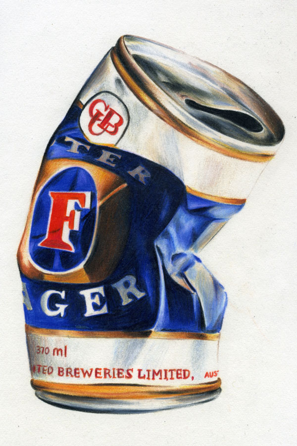 About Me | conartist  Crushed Beer Can