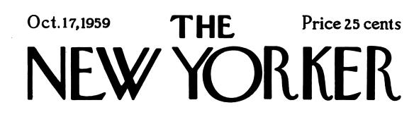 New Yorker masthead